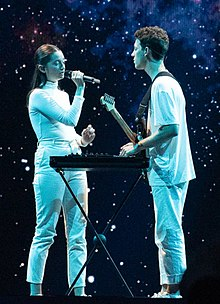 Zala Kralj & Gašper Šantl at the 2019 Eurovision Song Contest Semi-final 1 dress rehearsal (01) - cropped.jpg