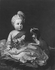 Maximilian IV Joseph of Bavaria as child with the Order of St. Hubert