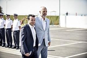 Zoran Zaev -  Zaev with Edi Rama during a meeting of Balkan leaders held in Durrës