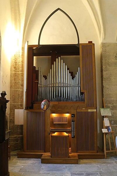 Datei:Zuglio, Chiesa di San Pietro Apostolo, Organo Giacomo Selenati.jpg