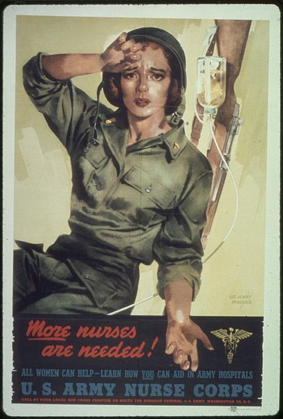 "Fichier:""More nurses are needed^ All women can help - learn how you can aid in army hospitals"" - NARA - 513648.jpg"