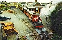 """Peter Sam"" leaves Tywyn Station. - geograph.org.uk - 116913.jpg"