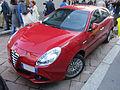 """ 12 - ITALY - Alfa Romeo Giulietta rossa fiammante a Milano zona Tortona (design Week).JPG"