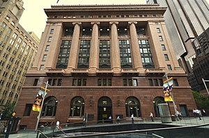 State Savings Bank Building - The State Savings Bank building: main façade on Martin Place