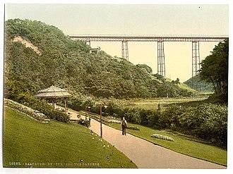 "Saltburn-by-the-Sea - ""Saltburn-by-the-Sea, the gardens"", ca. 1890 - 1900."