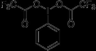 (Bis(trifluoroacetoxy)iodo)benzene - Image: (bis(trifluoroacetox y)iodo)benzene