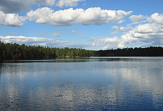 Tyresta National Park - Image: Årsjön, Tyresta national park, 2007 07 20, view northeast from western shore