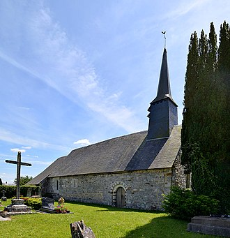 Avernes-Saint-Gourgon - The church in Avernes-Saint-Gourgon