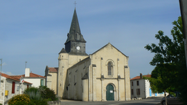 The church of Saint-Romain, in Curzon