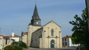 Curzon, Vendée - The church of Saint-Romain, in Curzon