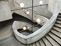 Église souterraine de Notre-Dame-de-la-Miséricorde (Ars-sur-Formans) - escalier.JPG
