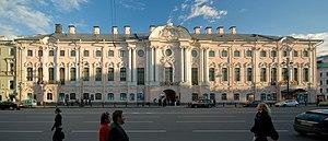 Stroganov Palace - View of the Stroganov Palace from Nevsky Prospekt