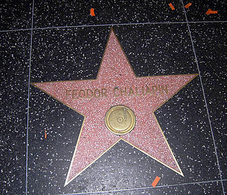 Feodor Chaliapin - Chaliapin's star on the Hollywood Walk of Fame