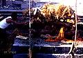 パシュパテイナート(Pashupatinath)パグマティ川火葬場I着火風景mg768.jpg
