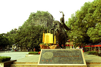 Guilin - Statue of Ma Yuan at Fuboshan, Guilin.