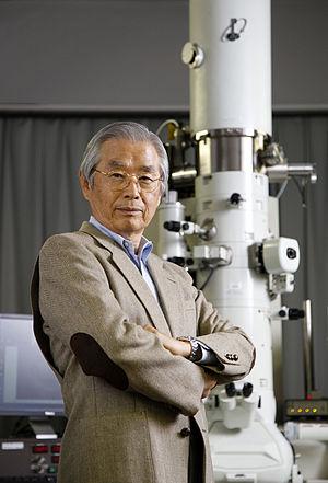 Sumio Iijima - At Meijo University.