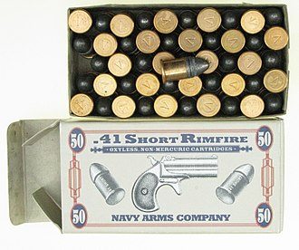 .41 Short - Image: .41 Short Rimfire ammunition box