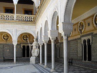 Casa de Pilatos - Image: 022 Patio Casa de Pilatos Sevilla(RI 51 0000889)