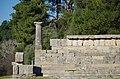02 2020 Grecia photo Paolo Villa FO199993 (Olimpia parco archeologico - fregio di triglifi e metope di ordine dorico del Tempio di Era - - frieze of triglyphs and Doric order metopes from the Temple of Era).jpg