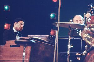 Chubby Jackson - Pianist Wild Bill Davis and double-bassist Chubby Jackson performing at the 1976 or 1979 North Sea Jazz Festival