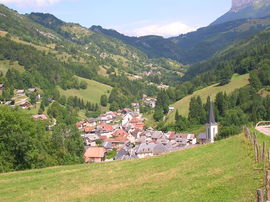 A general view of Saint-Pierre-d'Entremont, Savoie