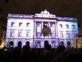 051 Llum BCN, projecció a la façana de l'Ajuntament, pl. Sant Jaume.JPG