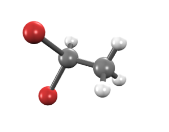 1,1-Dibromoethane - Image: 1,1 Dibromoethane (bond and stick model)