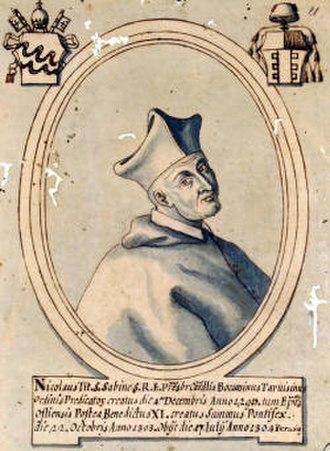 Pope Benedict XI - Cardinal Boccasini