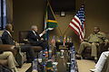 141118-N-LV331-003 Secretary of the Navy (SECNAV) Ray Mabus meets with Chief of the South African National Defense Force Gen. Solly Zacharia Shoke.JPG