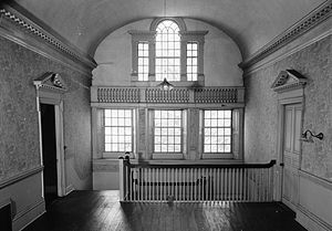 1790 House - Interior view looking towards rear of building, 1940.