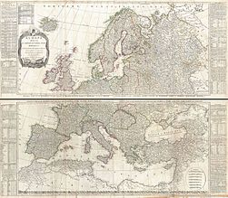 1794 D'Anville Two Panel Wall Map of Europe - Geographicus - Europe-anville-1794.jpg