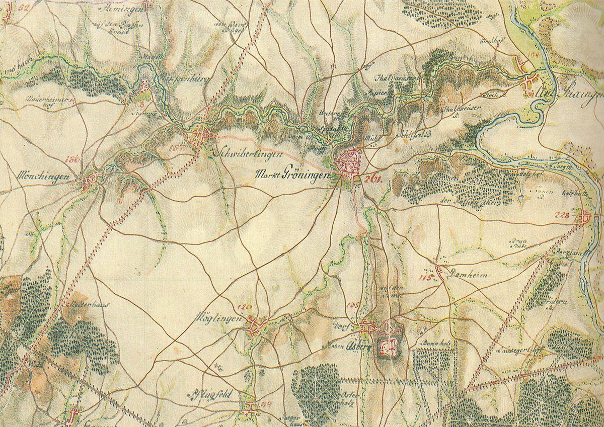 Karte Von.Schmittsche Karte Von Südwestdeutschland Wikipedia