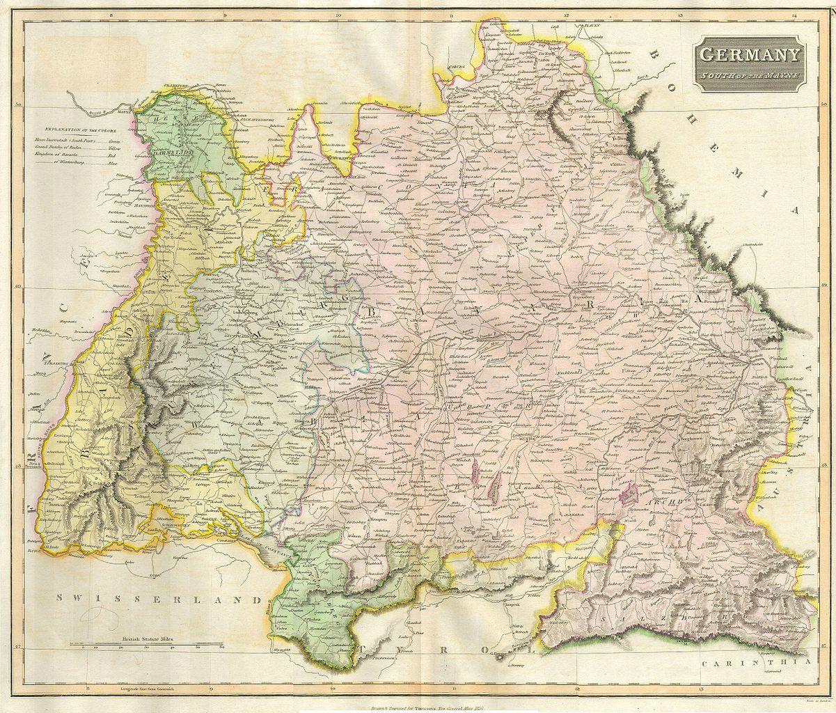 file 1814 thomson map of bavaria  germany