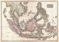 1818 Pinkerton Map of the East Indies and Southeast Asia (Singapore, Borneo, Java, Sumatra, Thailand - Geographicus - EastIndiaIslands-pinkerton-1818.jpg