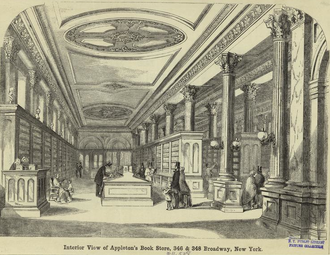 D. Appleton & Company - Image: 1856 Appletons Book Store 346 & 348 Broadway New York