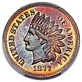 1877 1C Proof Red and Brown (obv).jpg