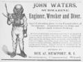 1884 diver ad Newport Rhode Island.png