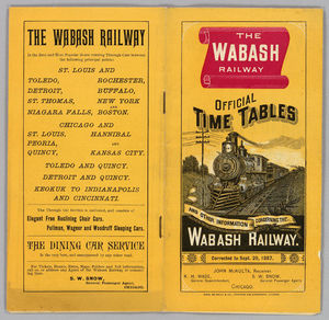 Wabash Railroad - System timetable, 1887