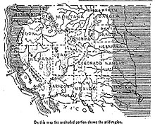 Arid Regions Of The Western United States As Mapped In 1893
