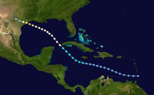 1909 Velasco hurricane - Image: 1909 Atlantic hurricane 4 track