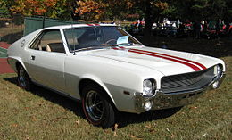 1968 AMC AMX white at Rockville Maryland show 2007.jpg