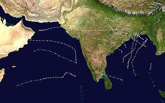 1970 North Indian Ocean cyclone season - Image: 1970 North Indian Ocean cyclone season summary