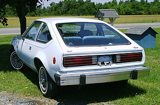 AMC Spirit - Rear view of the new liftback body design