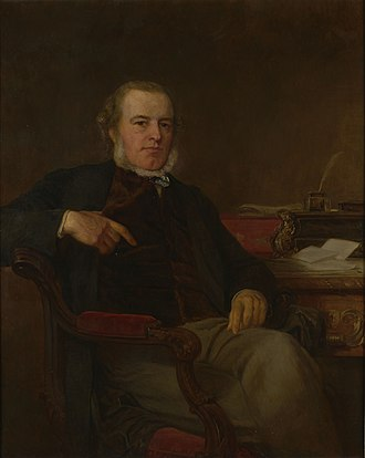 Henry Bruce, 1st Baron Aberdare - Lord Aberdare, portrait after Henry Tanworth Wells.