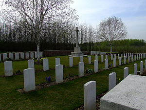 Duke of Cornwall's Light Infantry - First DCLI Commonwealth War Graves Commission Cemetery, The Bluff in Belgium