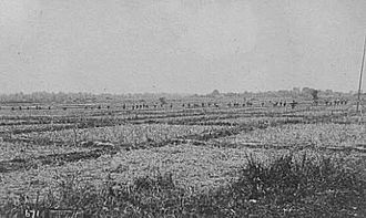 Battle of Santo Tomas - 1st Nebraska Volunteers advancing during the Battle of Santo Tomas