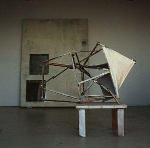 Lawrence Carroll - Image: 2002 Table painting Malibu CALIFORNIA