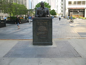 Jack Brickhouse - Bust of Brickhouse in Chicago