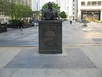Jack Brickhouse - Bust of Brickhouse in Chicago