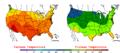 2008-06-23 Color Max-min Temperature Map NOAA.png